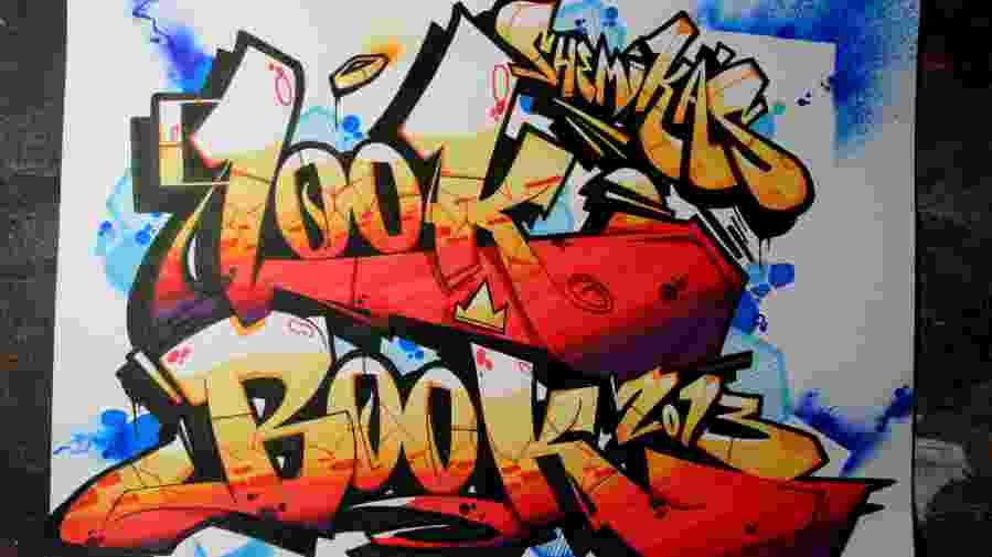 "Graffiti cover reads ""Look Book"""