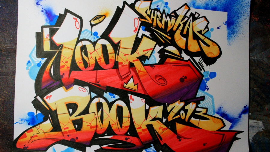 "Graffiti cover reads ""Look Book"""