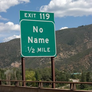 "Highway sign for a place called ""No Name"""
