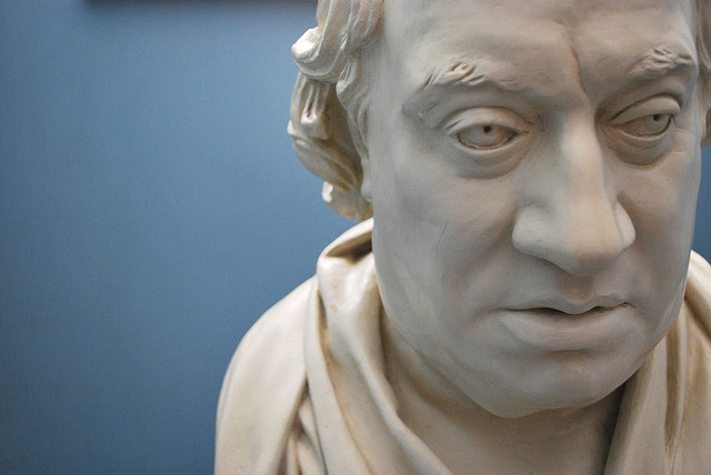 A statue bust of Samuel Johnson