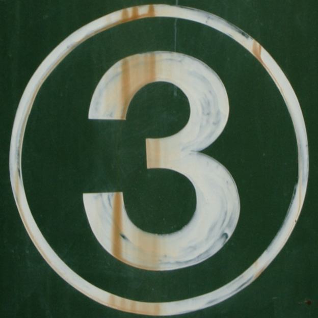 3 in a circle
