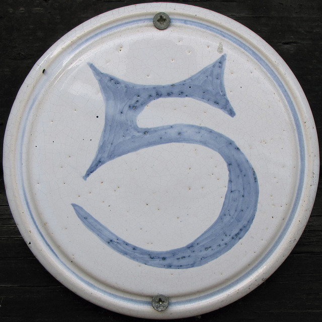 The numeral 5