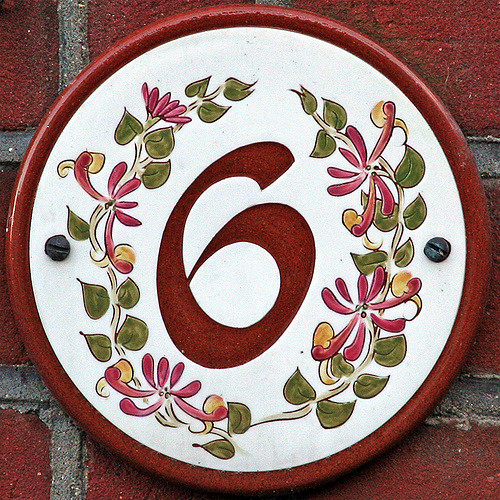 The numeral 6
