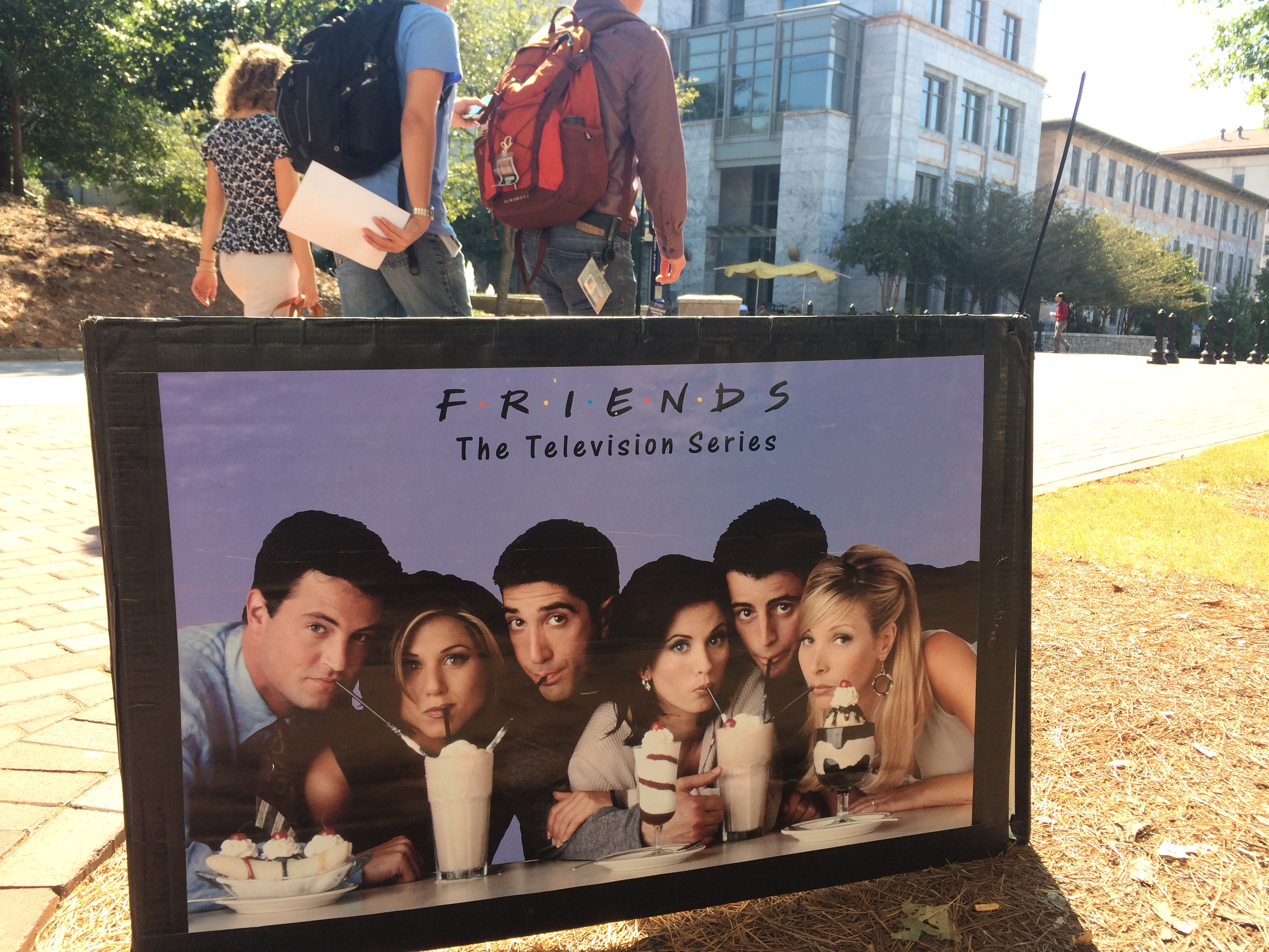 """Friends: The Television Show"" milkshake poster circa 1994"